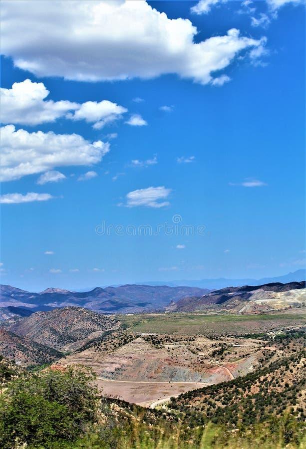蓝鸫矿, Tonto国家森林,地球迈阿密区,希拉县,亚利桑那,美国 库存图片