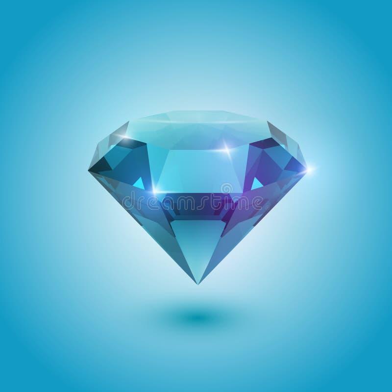 蓝绿色宝石 向量例证