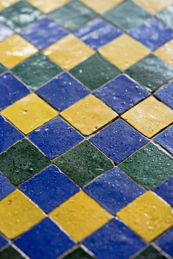 蓝绿色锦砖 库存图片