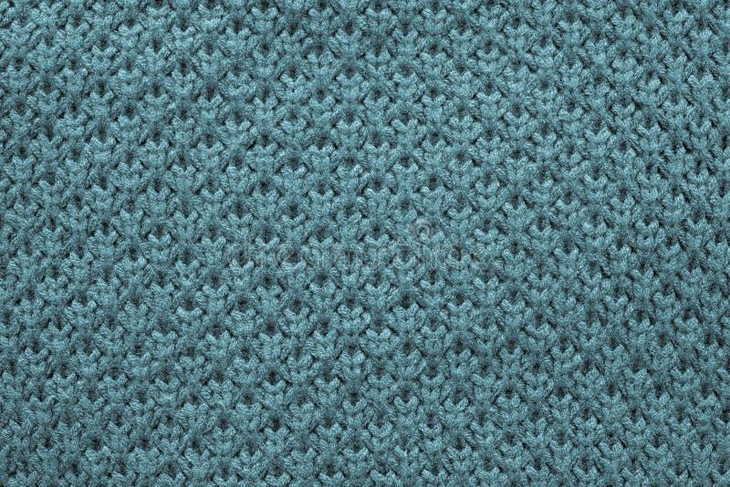 蓝绿色颜色被编织的蜂窝纹理  库存图片