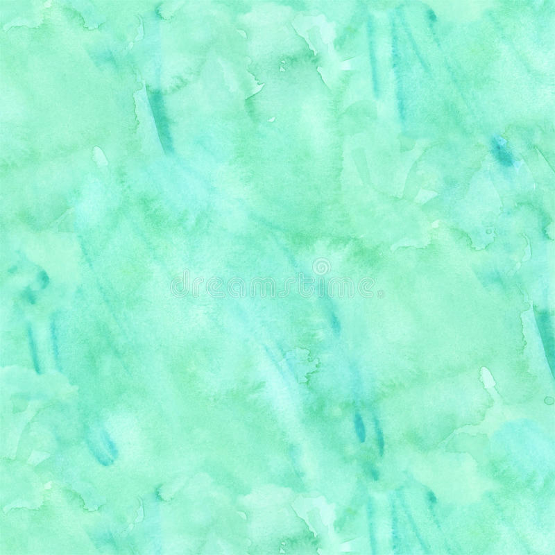 蓝绿色水色小野鸭水彩纸背景 向量例证