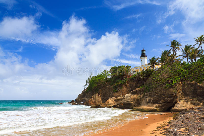 蓬塔金枪鱼海滩波多黎各 免版税库存图片