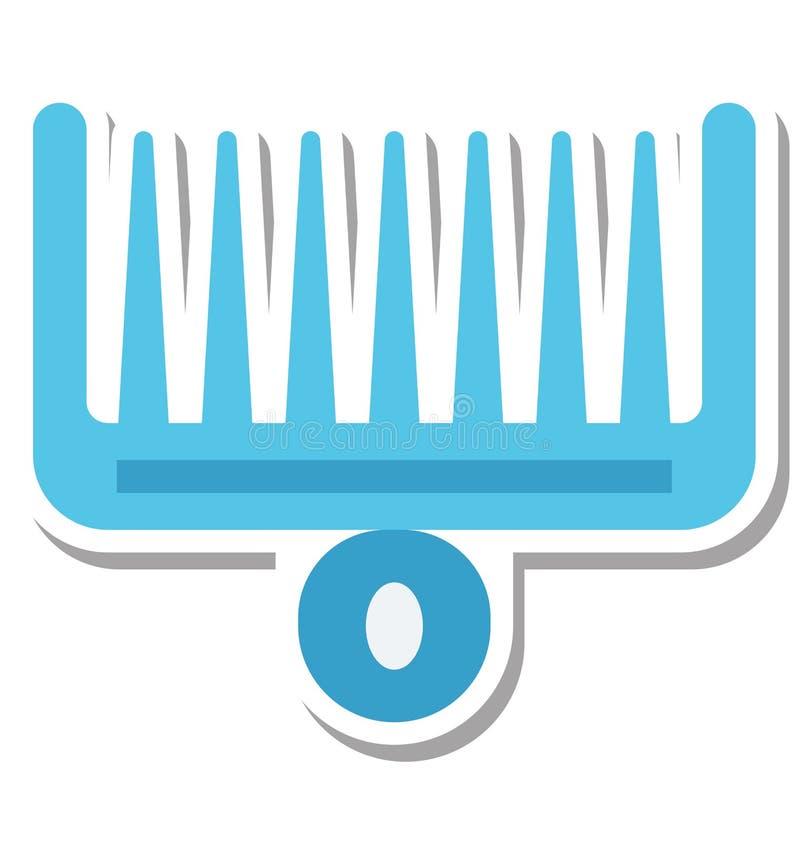 蓬松卷发梳子隔绝了秀丽和温泉项目的传染媒介象编辑可能的专辑, 库存例证