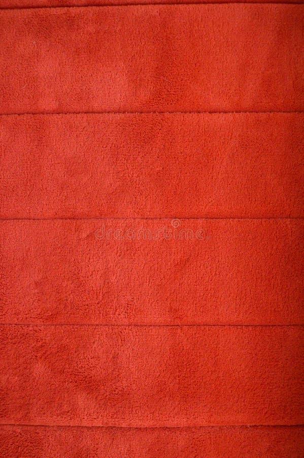 蓬松地毯红色纹理有水平的条纹的 库存照片. 图片 有