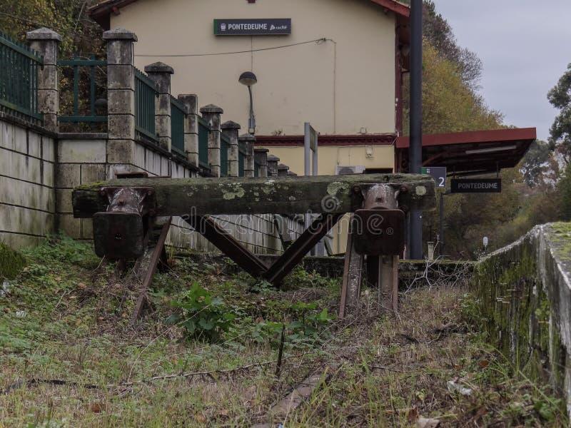 蓬特德乌梅火车站 免版税库存图片