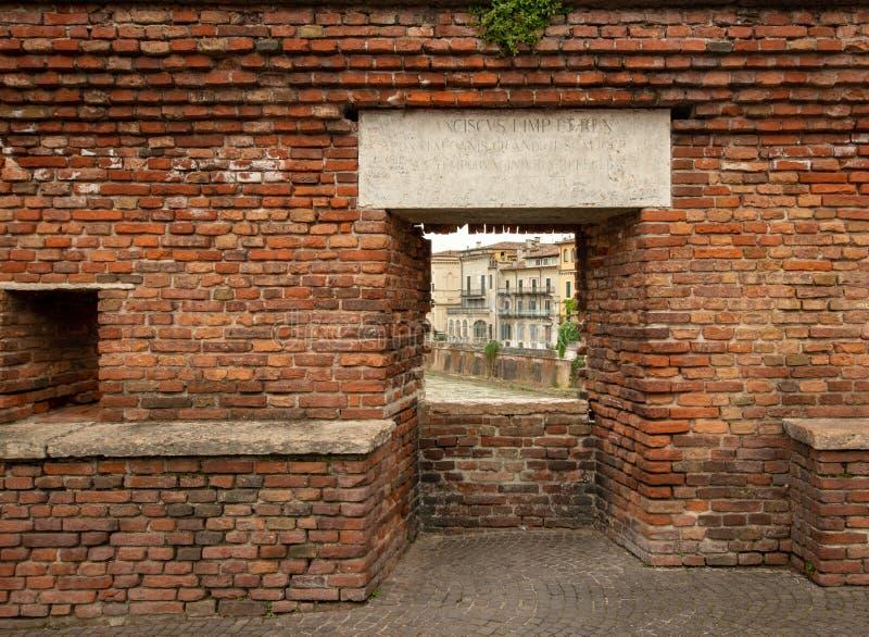 蓬特Scaligero/Castelvecchio 库存照片