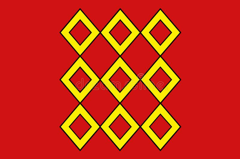 蓬蒂维旗子在布里坦尼,法国莫尔比昂省  向量例证