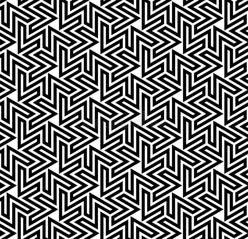 蔓藤花纹光学模式 向量例证