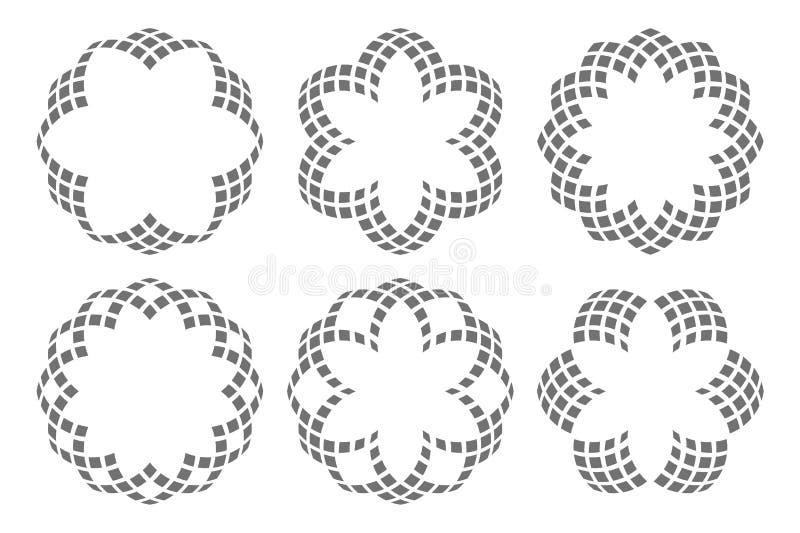 蔓藤花纹 在白色背景的花卉元素 皇族释放例证