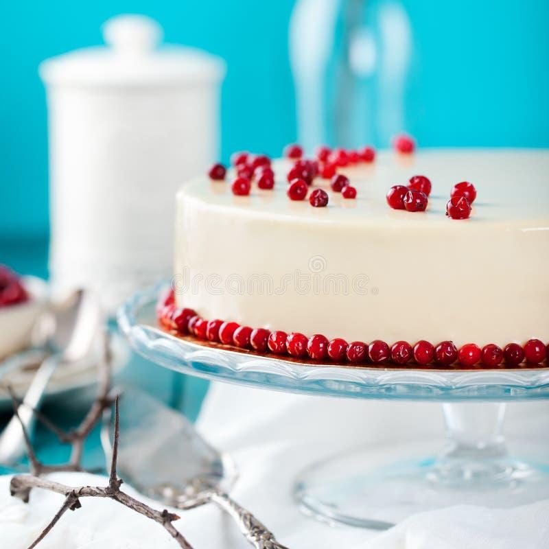 蔓越桔,越桔馅饼,奶油甜点蛋糕,乳酪蛋糕 免版税库存图片