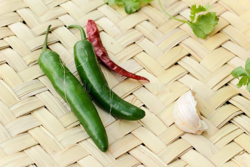蔬菜和绳子混合 免版税库存图片
