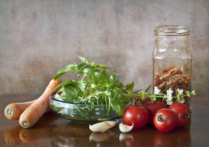 蔬菜和香料 免版税库存照片