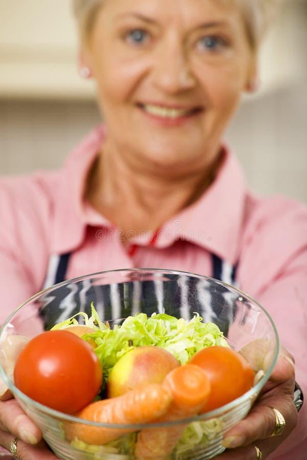 蔬菜妇女 免版税库存照片