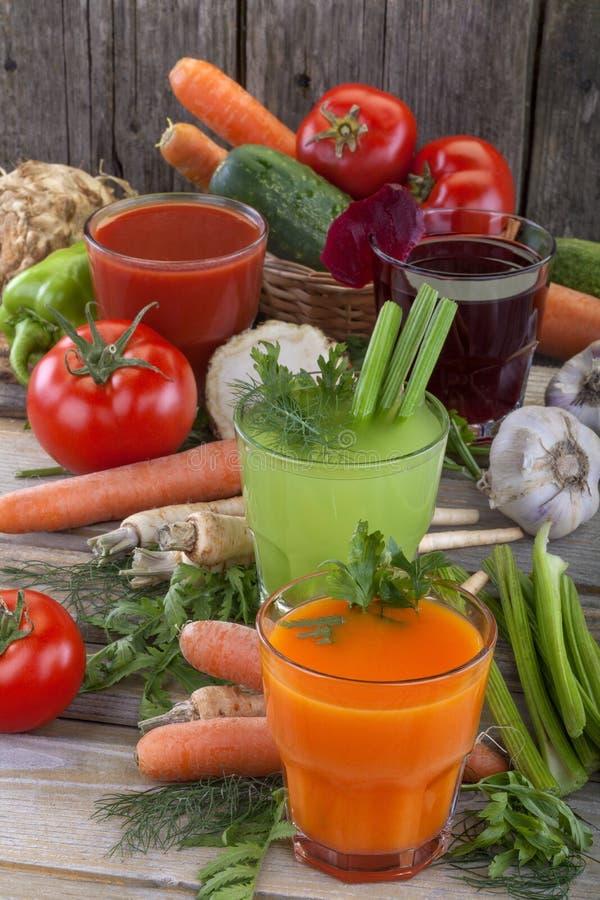 蔬菜汁 免版税库存照片