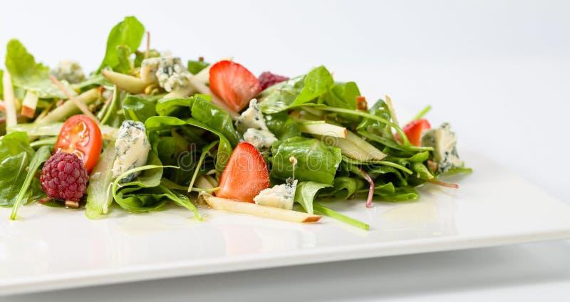 蔬菜沙拉用戈贡佐拉 库存图片