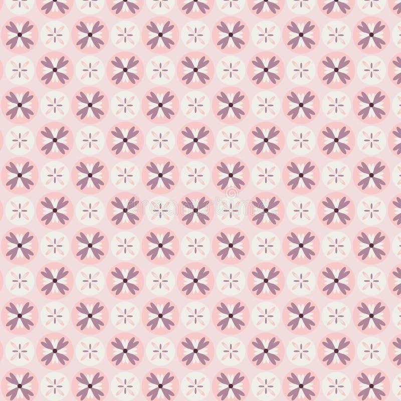 蔷薇石英花无缝的样式 皇族释放例证