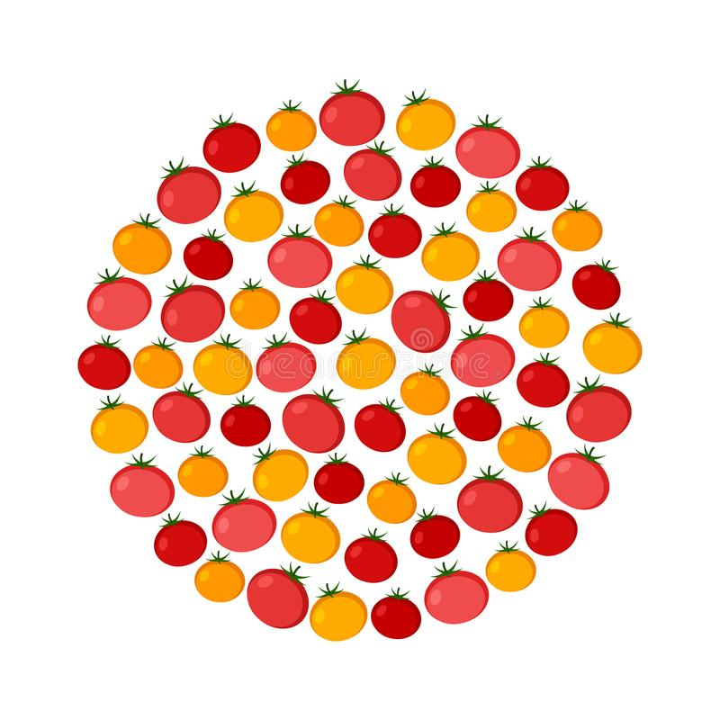 蕃茄传染媒介圈子背景 有机食品象传染媒介例证 向量例证