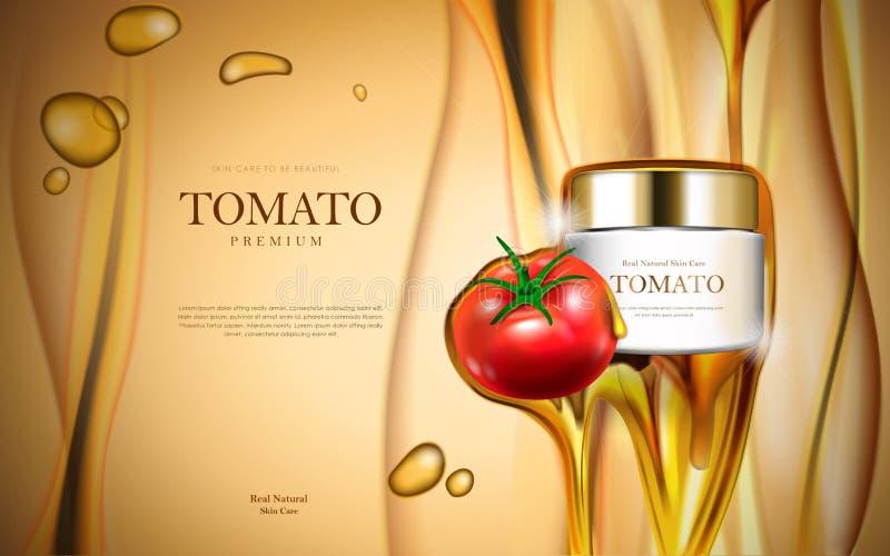 蕃茄化妆用品广告 向量例证