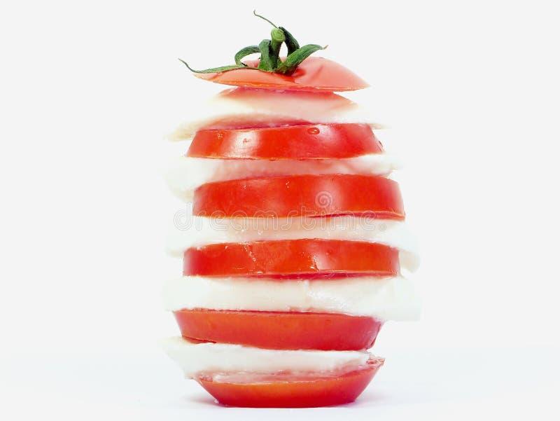 蕃茄和无盐干酪塔 免版税图库摄影