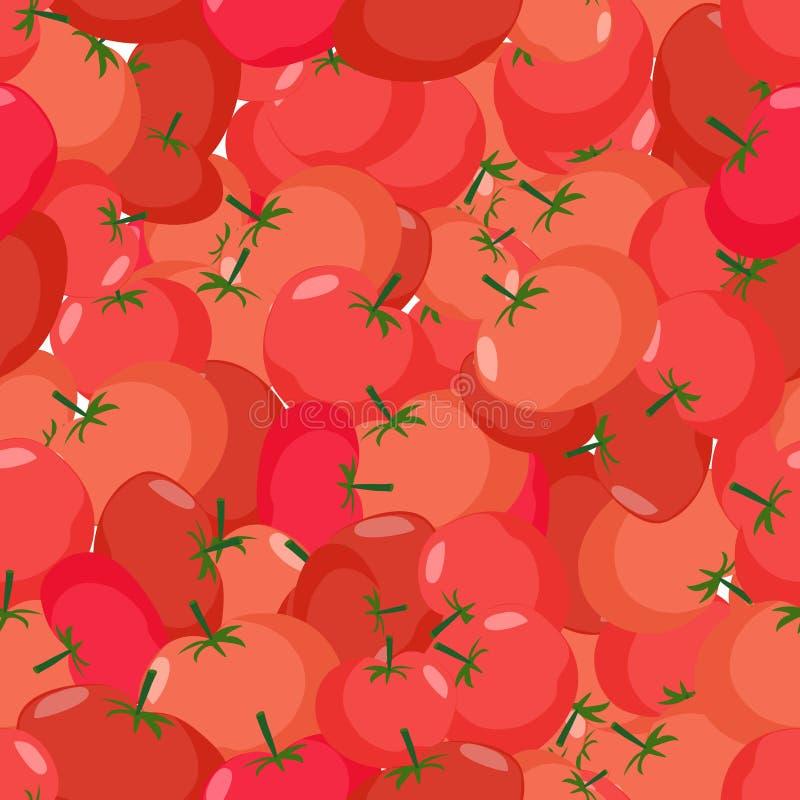 蕃茄样式 无缝的背景用红色蕃茄 传染媒介te 皇族释放例证