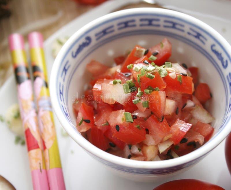 蕃茄沙拉 免版税库存图片