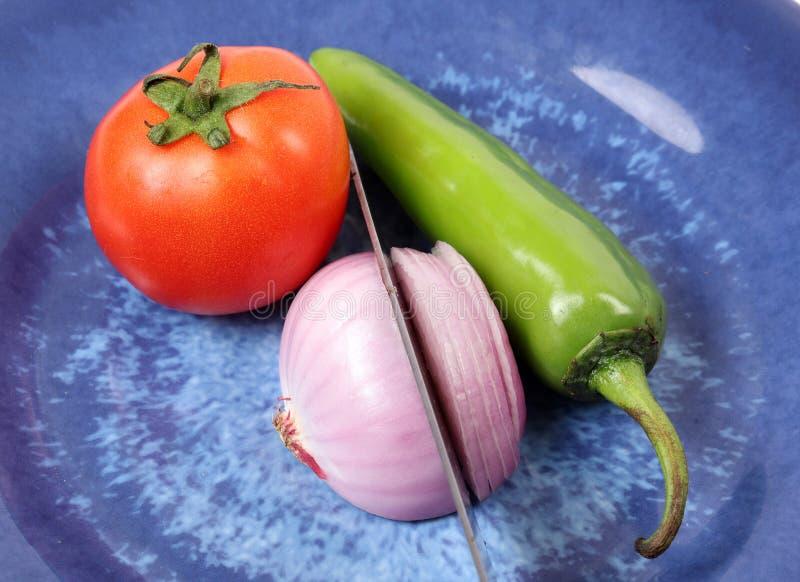 蕃茄葱和冷颤 免版税库存图片