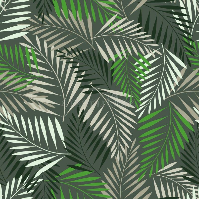 蕨叶子无缝的模式 库存例证