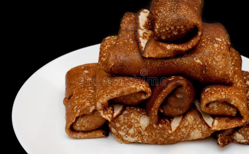 薄煎饼被设置作为塔 库存照片