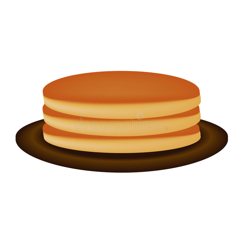 薄煎饼 向量例证