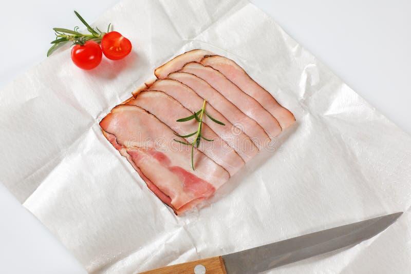 薄片烟肉 免版税库存照片