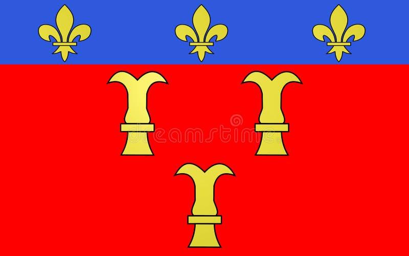 薄纱,法国旗子  图库摄影