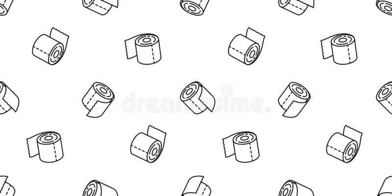 薄纸poo无缝的样式洗手间狗围巾被隔绝的重复墙纸瓦片背景象动画片乱画illustrati 向量例证