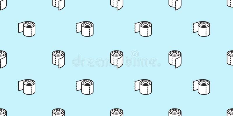 薄纸poo无缝的样式洗手间被隔绝的狗重复墙纸瓦片背景象动画片乱画例证 向量例证