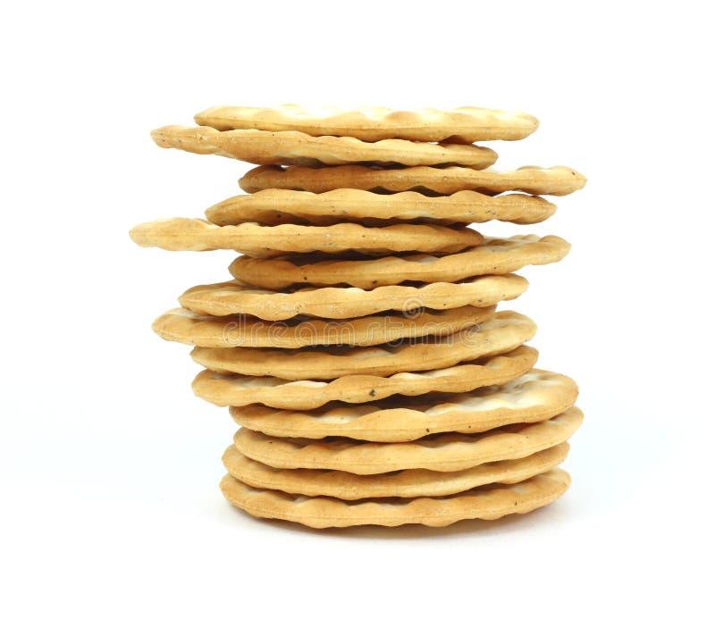 薄脆饼干来回栈变薄 免版税库存照片