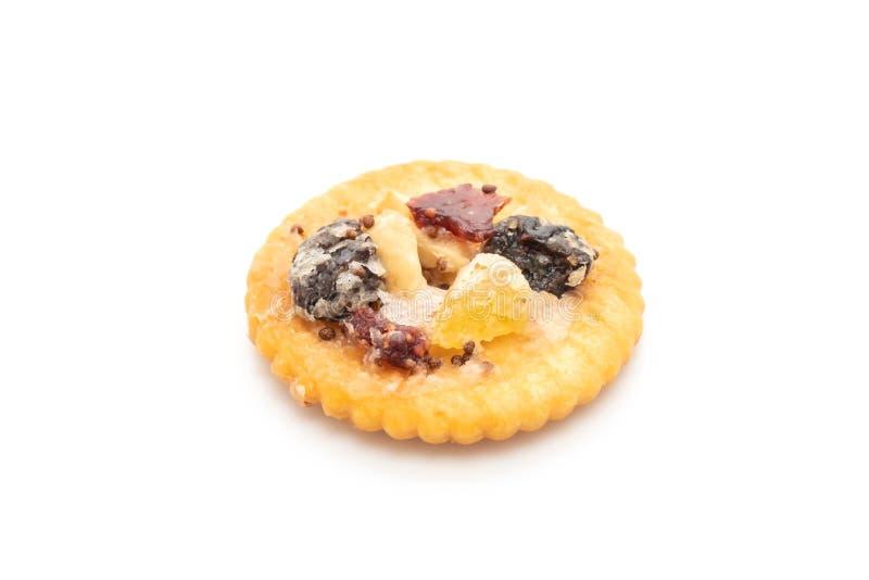 薄脆饼干饼干用干果子 免版税库存照片