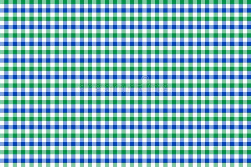 薄荷和浅兰的方格花布样式 从菱形/正方形-格子花呢披肩的,桌布,衣裳,衬衣,礼服,纸的纹理, 库存例证