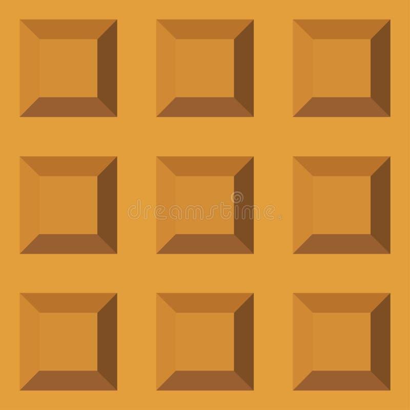 薄酥饼无缝的样式 与重复纹理的被烘烤的奶蛋烘饼背景 风格化平的样式传染媒介例证 图库摄影