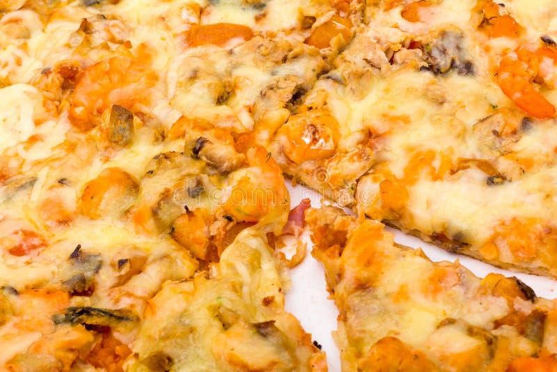 薄饼用乳酪和火腿 图库摄影