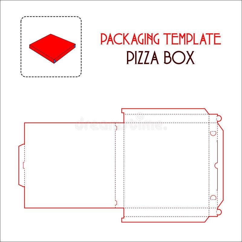 薄饼箱子包装的模板 皇族释放例证