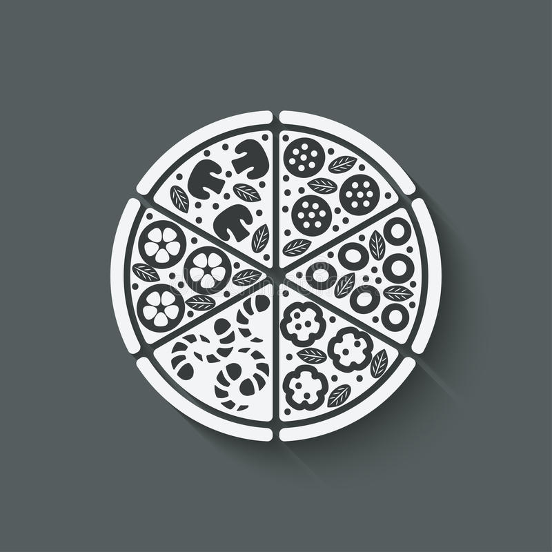 薄饼设计元素 皇族释放例证