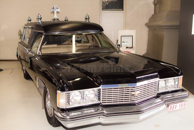 薛佛列贝莱尔柩车1976年 库存照片