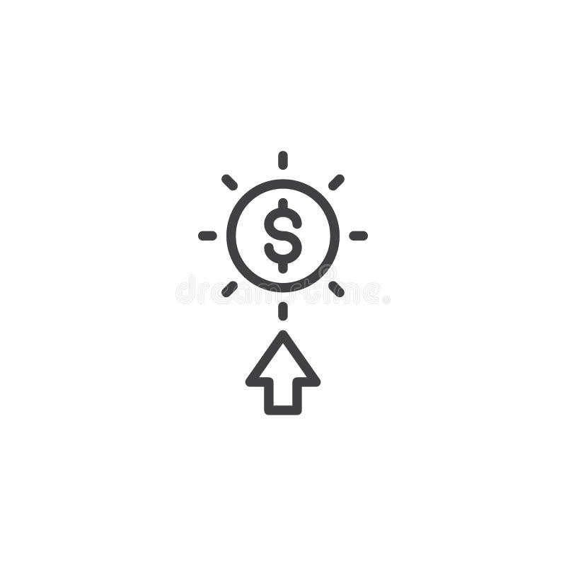 薪水每条点击线象 向量例证