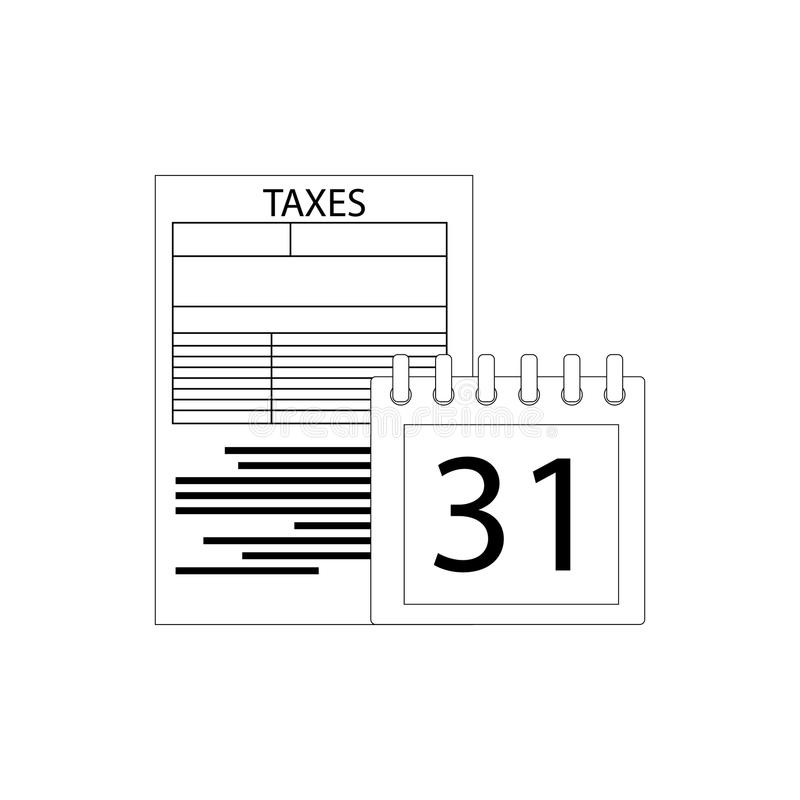 薪水税的天 库存例证