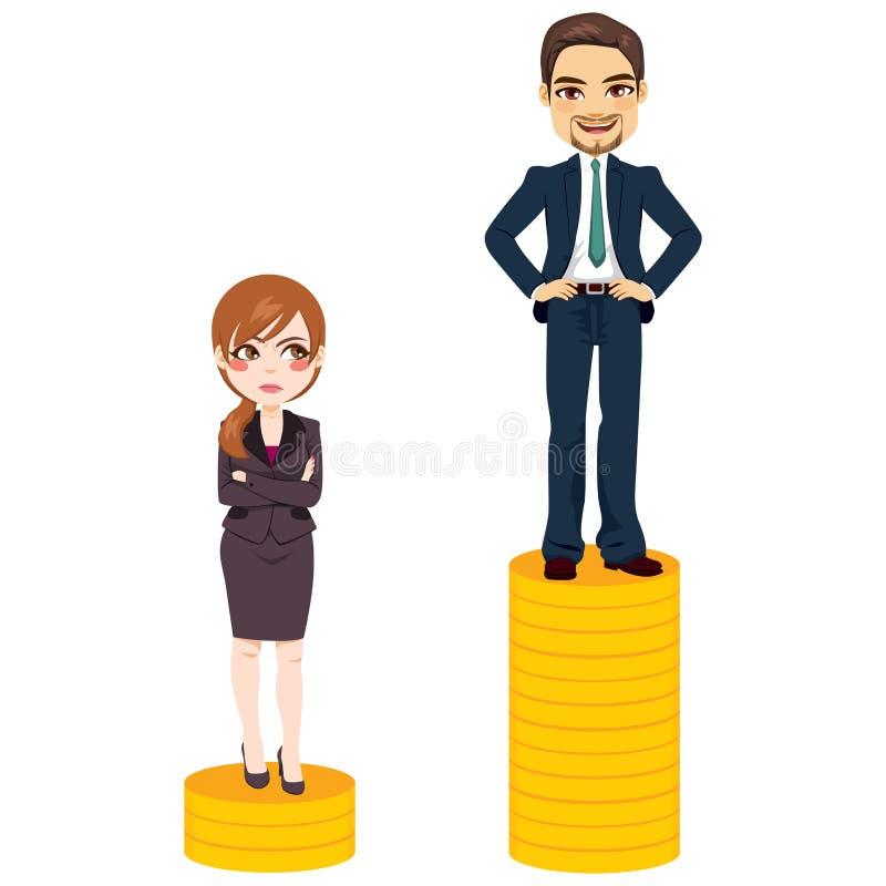 薪水空白商人 向量例证
