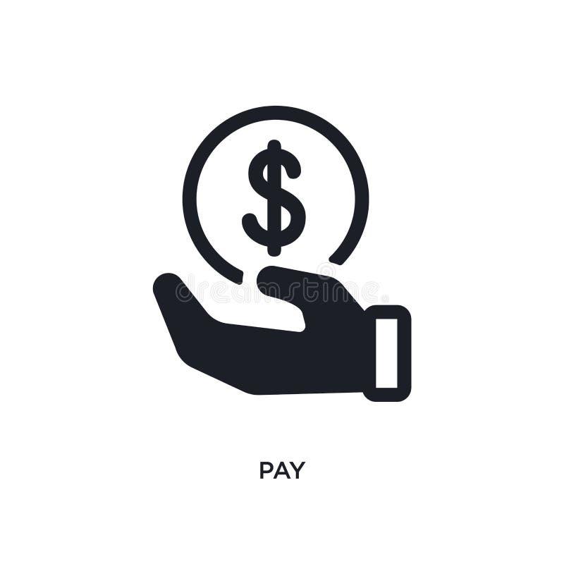 薪水被隔绝的象 从付款概念象的简单的元素例证 在白色的薪水编辑可能的商标标志标志设计 库存例证