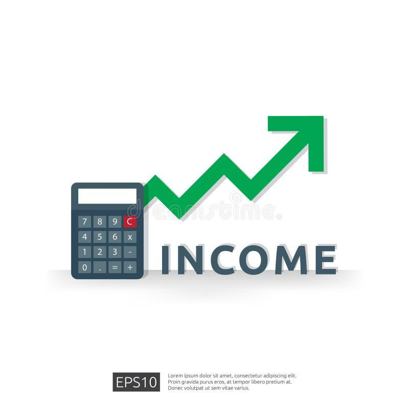 薪金率增量 财务回收投资收入表现ROI概念的与箭头 营业利润成长边际 向量例证