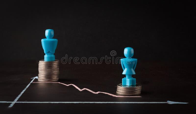 薪水差距和男女平等概念 免版税库存照片