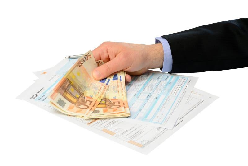薪水税 免版税库存图片