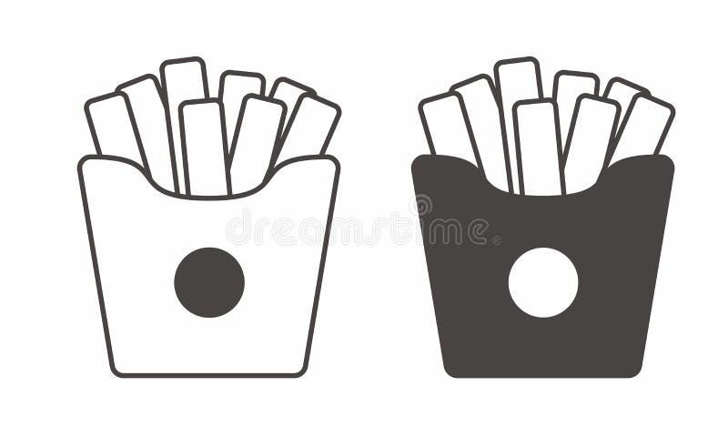 薯条在白色导航隔绝 库存例证