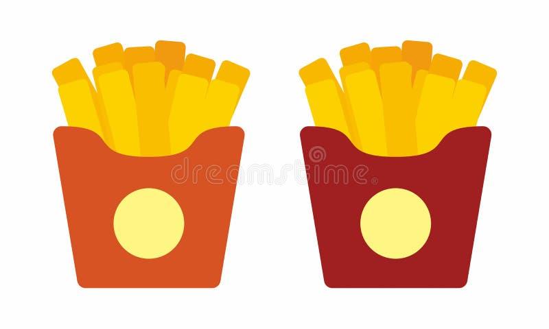 薯条在白色导航隔绝 皇族释放例证